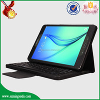 Very popular in Ameica PU leather tablet case flip cover with wireless bluetooth keyboard for samsung T550 T555
