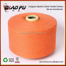 High quality super soft yarn recycled dyed cotton yarn for weaving