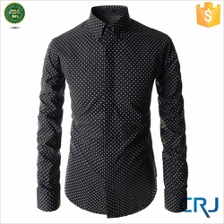 Latest hot selling polka dot men's dress shirt