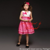 New Girl Summer Dresses With Bow Sleeveless Girl Dresses Wholesale Kids Clothing GD40322-5