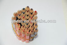 3.5''JUMBO wood writing color pencil stationery set supply for school &office