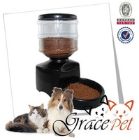 Portion-control automatic pet feeder battery-powered automatic pet feeder