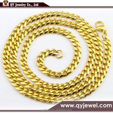 Stainless Steel 8mm Gold Cuban Curb Chain Link,Heavy Stainless Steel Men's Chain