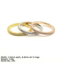 RZ10043B 925 Silver Ring CZ Stones Fashion Ring