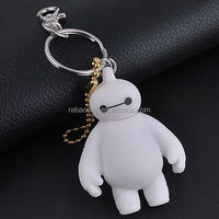 singapore cartoon 3d custom made rubber keychains