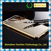 Hight quality 24K gold All in one Luxury Aluminum Acrylic cell phone case with mirror, for iphone 6 mirror case