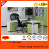 High Quality Modern Green MDF L Shape Latest Office Table Design