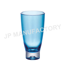 Haute qualité coloré en plastique transparent réutilisable tasse de bière en plastique dur verre
