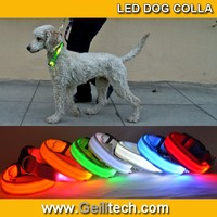 Super Value Pricing High Quality Nylon Waterproof LED Dog Collar With 3 Flashing Mode 8colour