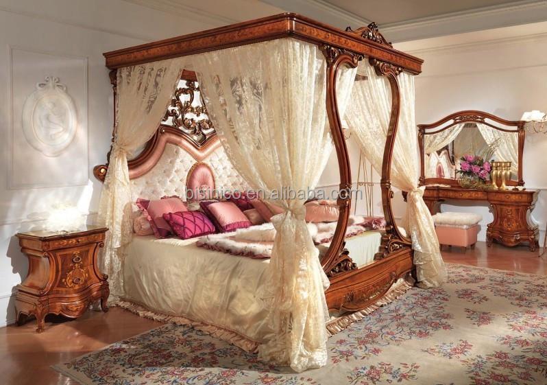 Italiano mobili camera da letto di legno reale, di lusso imbottiti ...