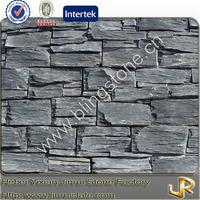 Calm natural slate stone wall decor