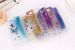 Hot Sale Dynamic Liquid Quicksand Bling Glitter Butterfly Case For iphone 5 5s Clear Transparent Back Mobile Phone Case