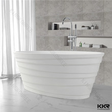 Acrylic solid surface bathroom products colored pedestal bath tubs