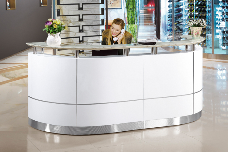 High End Office Furniture White Cheap Small Modern Office Front Desk