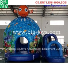 inflatable gold fish jumper,inflatable children bouncer with slide game,inflatable ocean theme bouncer