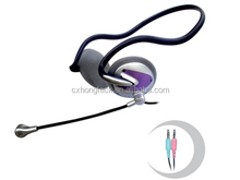 backband light headphone headset with microphone