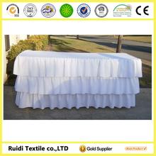 100% Polyester Table Skirt, Ruffled Table Skirt, Wholesale Table Skirt