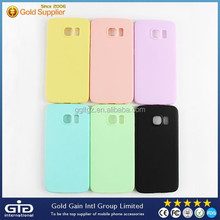 Candy color silicone+tpu cover case for Samsung S6