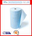 China fabricante de tela no tejida de la venta directa de bajo precio de limpieza toallitas húmedas rollo