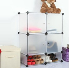 4 cube eco-friendly pp material household storage containers shoe rack