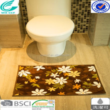 fashionable printed 100% polyester microfiber bath mat