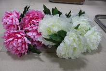 Hot sale new style silk peony flower, artificial peony flowers for wedding decoration