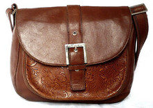 2015 Fashion Genuine Leather Small Brown Handbag Wholesale Factories in China Shoulder Bag LF0545