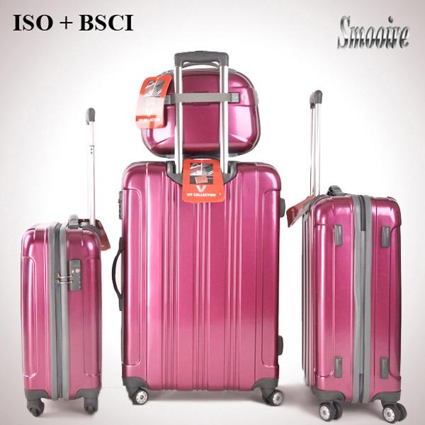 stylish royal polo style 100% PC travel luggage trolley case