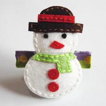 Christmas hair accessory, colorful felt snow man hair accessory