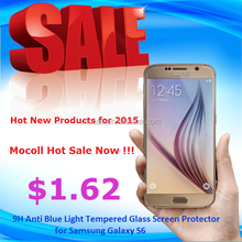 Hot New Products for 2015 Mocoll Hot Sale 9H Anti Blue Light Tempered Glass Screen Protector for Samsung Galaxy S6
