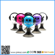 HOT! 2014 mini cute earphone splitter with stand function music/video sharing with friends ,3.5mm plug,for mp3,mp4