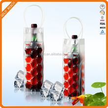 Gel wine bottle cooler, wine cooler plastic bag,cooler wine fridge for beer