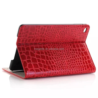 Tablet case super slim pu leather folio crocodile case for ipad mini 4 , for ipad mini 4 leather case cover