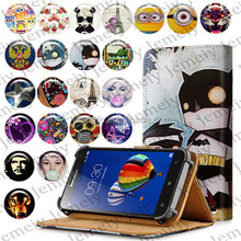 "Jemeiy Original Universal 5"" Wallet Flip Stand PU Leather case For Lenovo S580 Cover Bags"