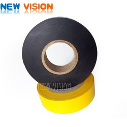Black pvc insulation tape with paper release liner /film release liner