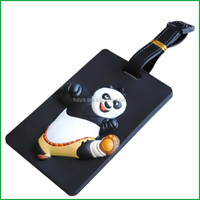 Plastic Soft PVC 3d luggage tag hanger for travel premium gifts