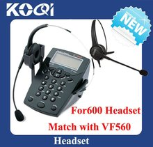 Call center headset telephone