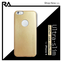 Premium leather blank back case cover for iPhone 6 6s plus