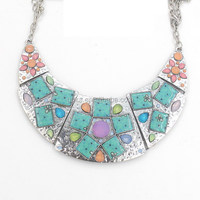Lovely Chunky Hammered Metal Alloy Necklace For Women