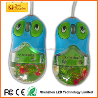 eye ball aqua mouse, liquid mouse with wire for customized gift