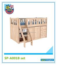bedroom furniture set kids day bed,kids cheap loft bed with desk#SP-A001B