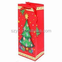 recycle fancy gift wine paper bags with handle