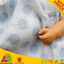 2015 hot sale MOQ 10PCS top quality SGS checked muslin swaddle baby heated blanket