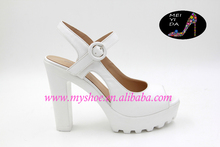 White thick and white women sandals