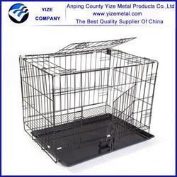 aluminum folding dog cage /galvanized steel dog cage