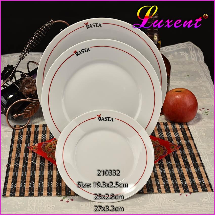 Pas cher en céramique porcelaine blanche élégante assiette ...