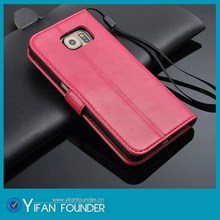 New arrival pu leather phone case, leather wallet case for samsung galaxy s6