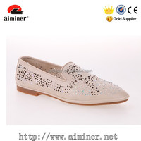 2016 New design korean style ladies beautiful flat shoes women