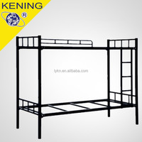 Black color double-layer metal bunk bed
