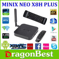 MINIX NEO X8H Plus x8-h x8 h 4K Ultra HD Android TV Box+A2 air mouse KitKat 4.4 Amlogic S812 Quad Core A9r4 Processor 2G/16G